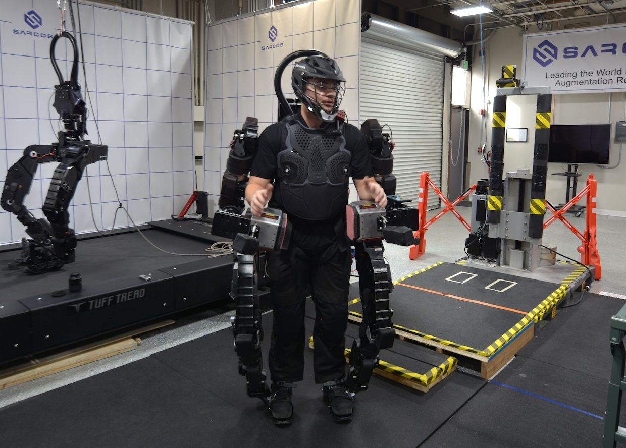 Sarcos Demonstrates Powered Exosuit That Gives Workers Super Strength