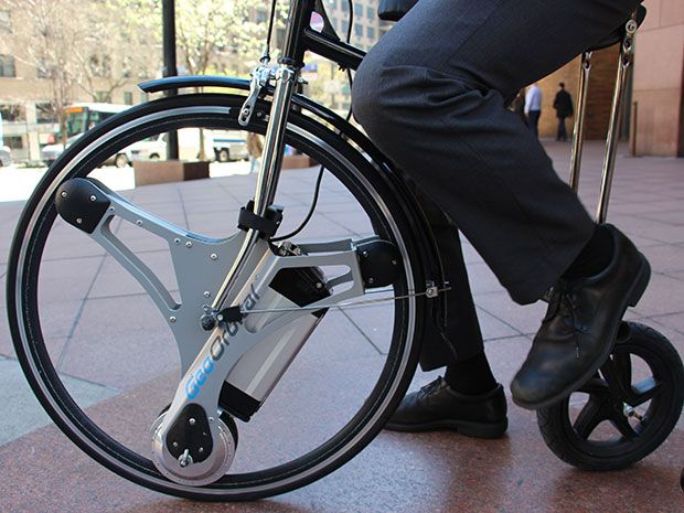 The geoorbital wheel lets you make your bike electric in for How to make an electric bike with a starter motor