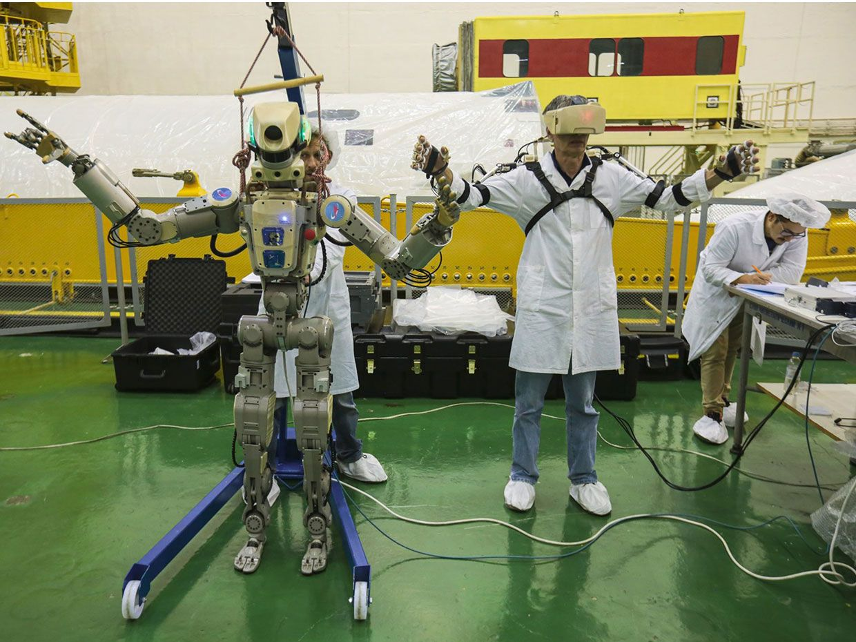Russian Humanoid Robot to Pilot Soyuz Capsule to ISS This Week