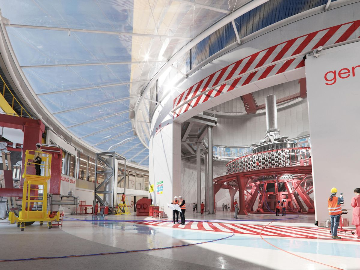 Interior rendering of General Fusion's Fusion Demonstration Plant.