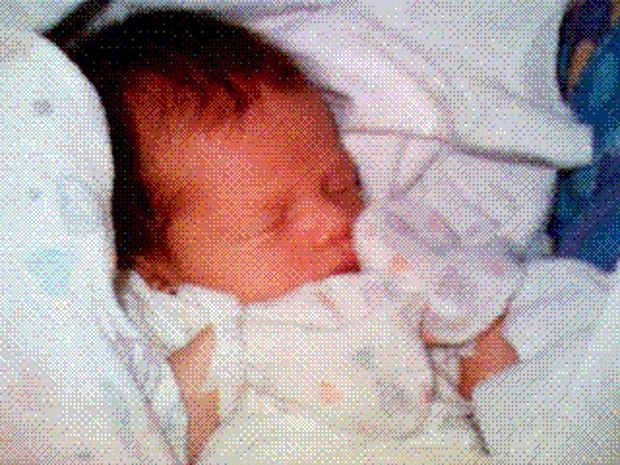 This photo of Phillipe Kahn's newborn daughter, taken on June 11, 1997, was the first digital photo ever shared instantly via cell phone