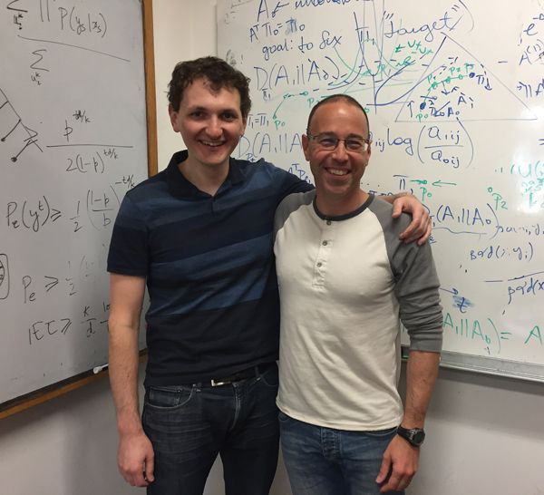 Photo of Dmitri Pavlichin and Tsachy Weissman