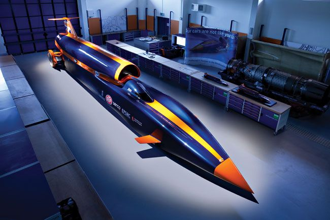 the bloodhound SSC show car