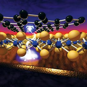 Illustration of a voltage-induced memory effect in monolayer nanomaterials, which layer to create