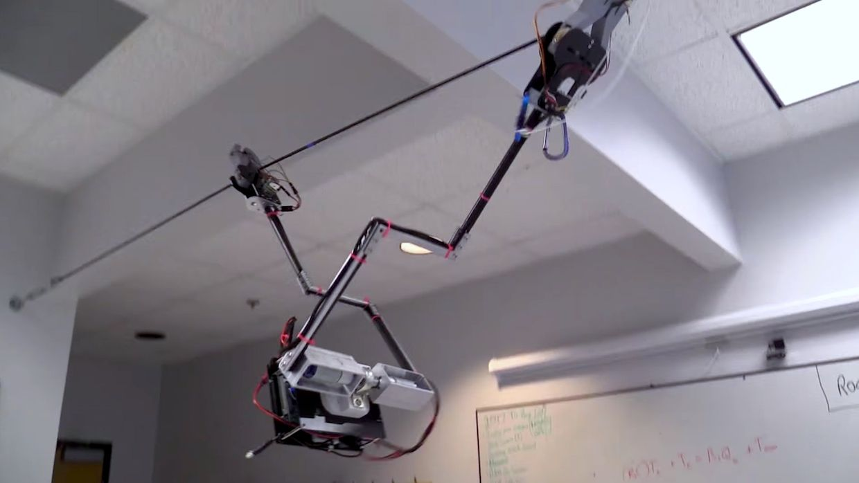Why Georgia Tech Built A Tarzan Robot That Swings Around On Wires Solve The Battery Disconnect Switch Wiring Dilema Once And For All Can Swing Overhead