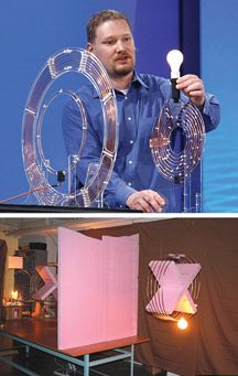 BRIGHT IDEA: Intel's wireless-power system [top] was inspired by MIT's [bottom].