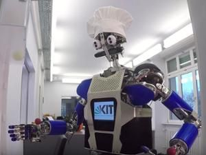 ARMAR-III humanoid robot preparing dinner
