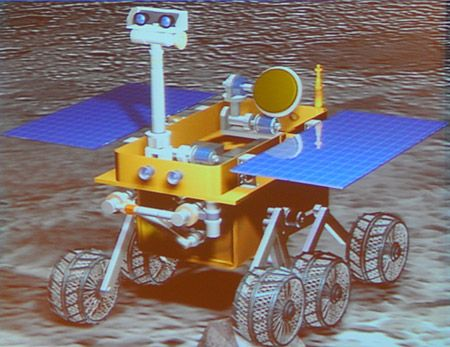 china moon rover robot