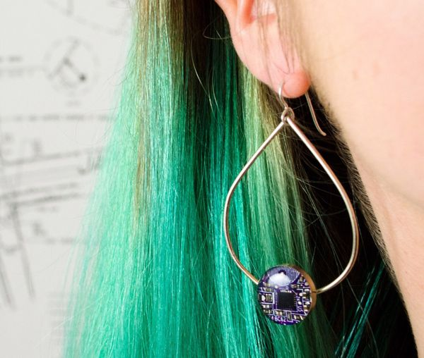 photo of Circuit Breaker Labs earring.