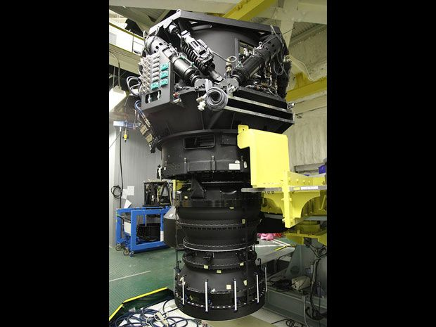 <b>Wide-Eyed:</b> The Subaru telescope's Hyper-Suprime-Cam is ideal for a sweeping search with a field of view three times the width of the moon.