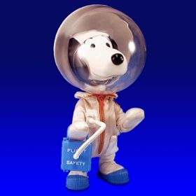 Photo of Snoopy as a semi-official NASA mascot.