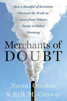 book cover, merchants of doubt