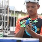 Drone engineering chops meet first person view flying in the exhilarating new mixed reality sport of drone racing