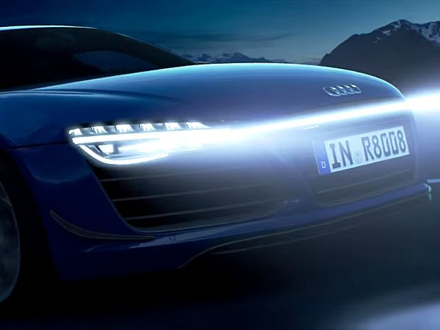 Audi Pixelated Laser Headlights Light the Road and Paint It Too