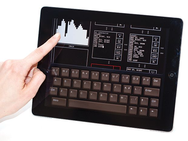 photo of tablet use of Human Resource Machine