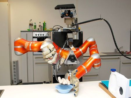 TUM Rosie robot preparing breakfast