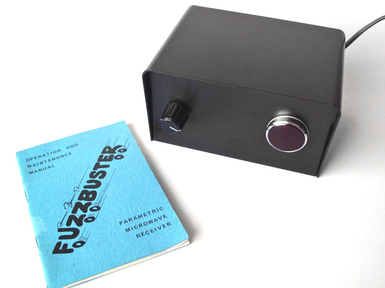 photo of the Fuzzbuster radar detector