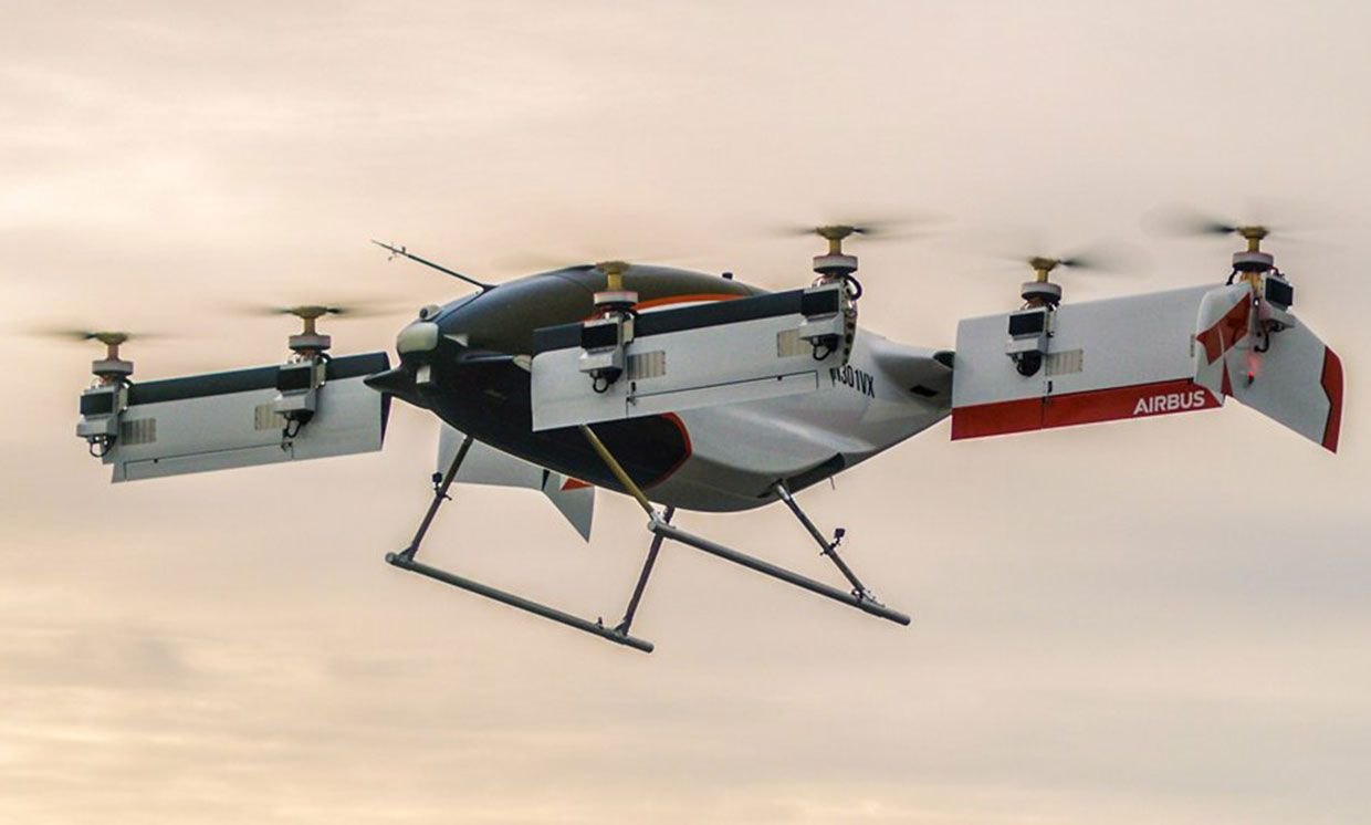 Airbus's self-piloted Vahana Alpha One on it's first flight.