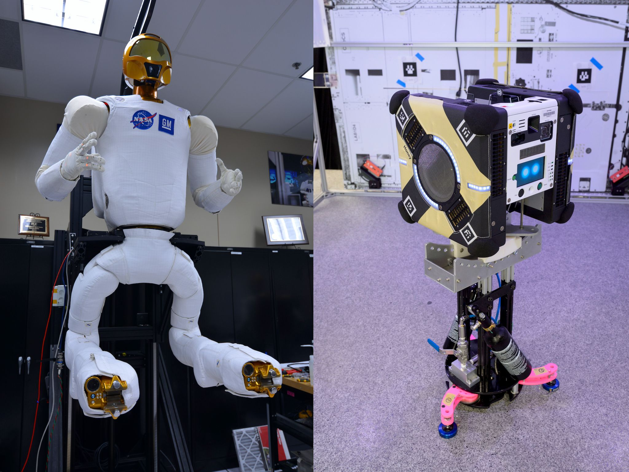 Robonaut and Astrobee