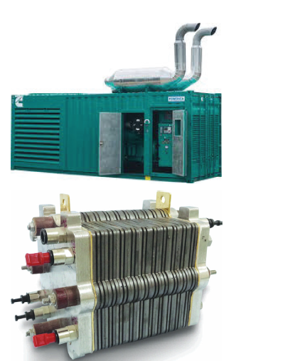 Figure 1. Top: Diesel generators used to power