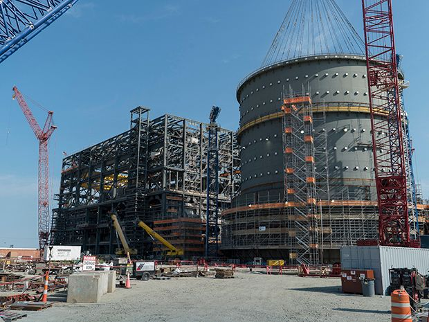 One of two Westinghouse AP1000 reactors to remain unfinished at South Carolina's VC Summer nuclear power plant