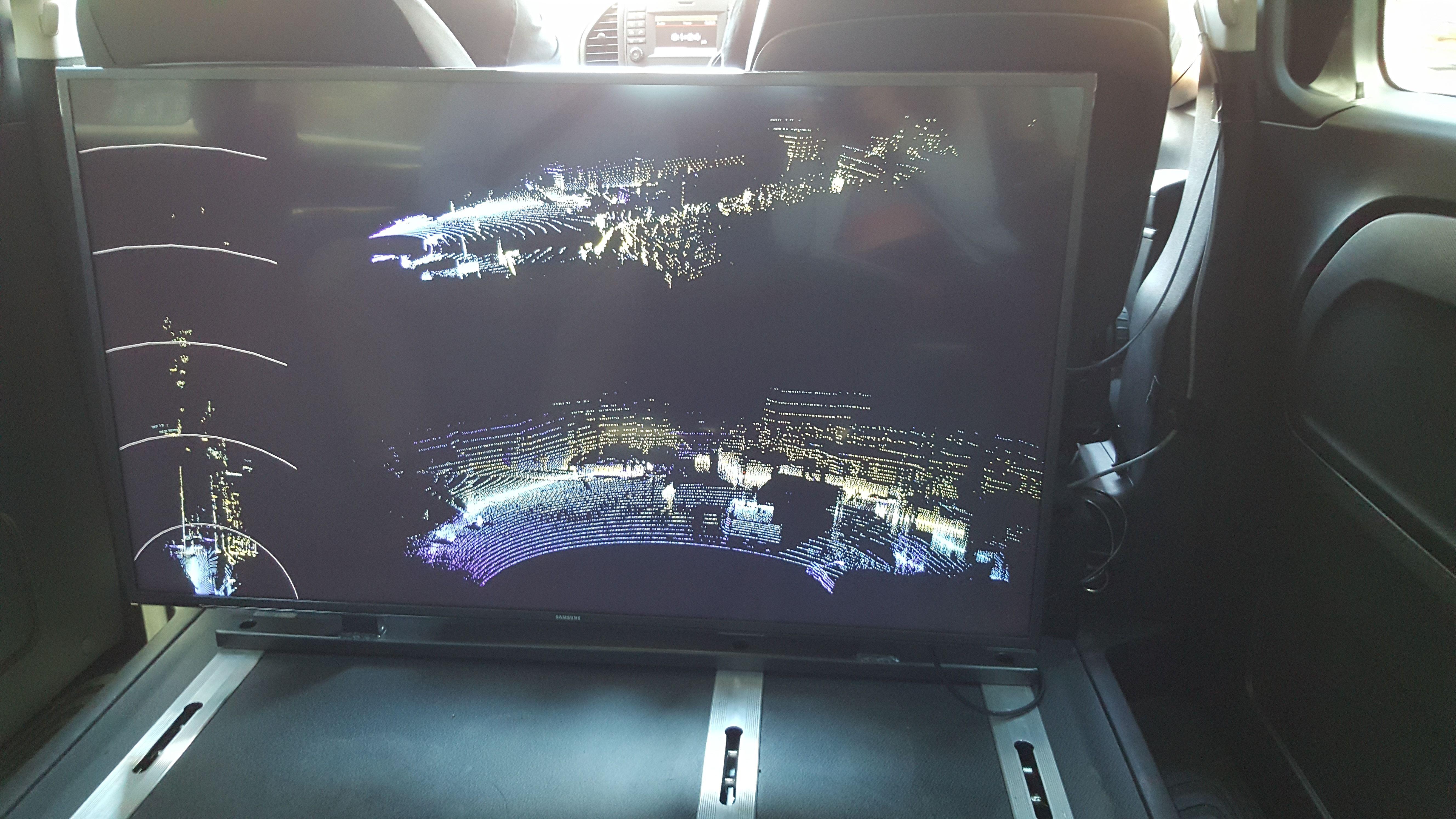 laptop screen displays lidar imaging
