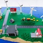 Photo of a Lego model of the Danish island of Bornholm