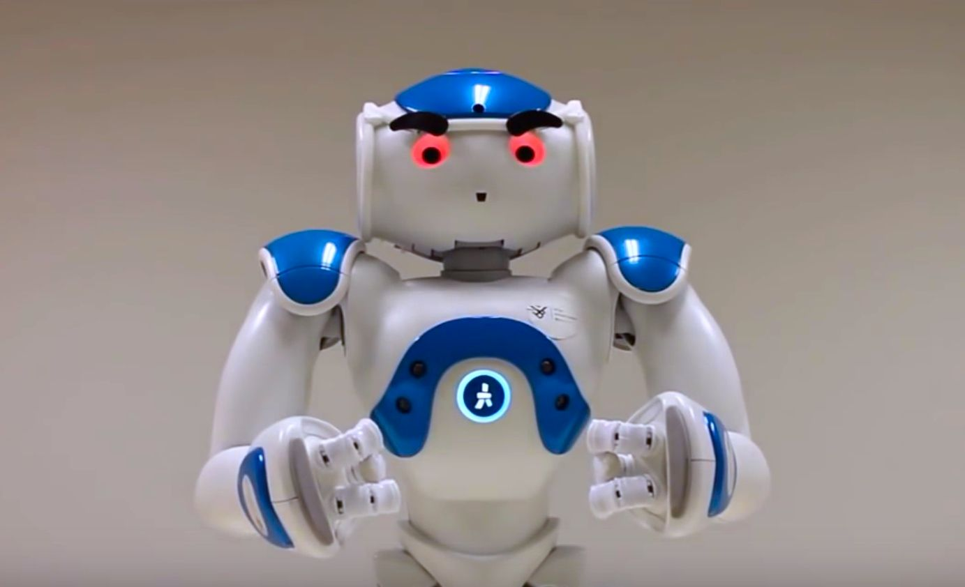 Nao humanoid robot with eyebrows