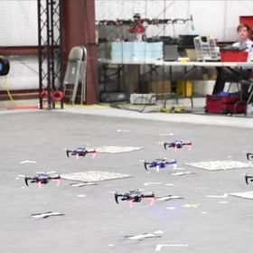 This Autonomous Quadrotor Swarm Doesn't Need GPS