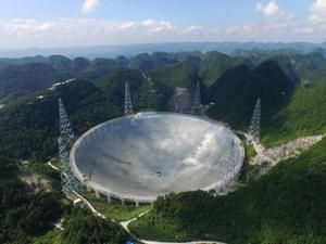 Arial photo of China's FAST telescope
