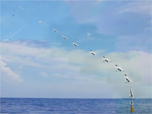Navy launches slightly less cool drone from submarine