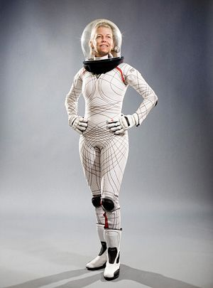photo of woman in space suit