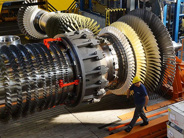 turbine rotor in a gas turbine