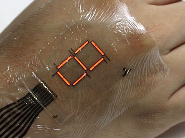 This Wearable Digital Display Just Sticks On Your Skin