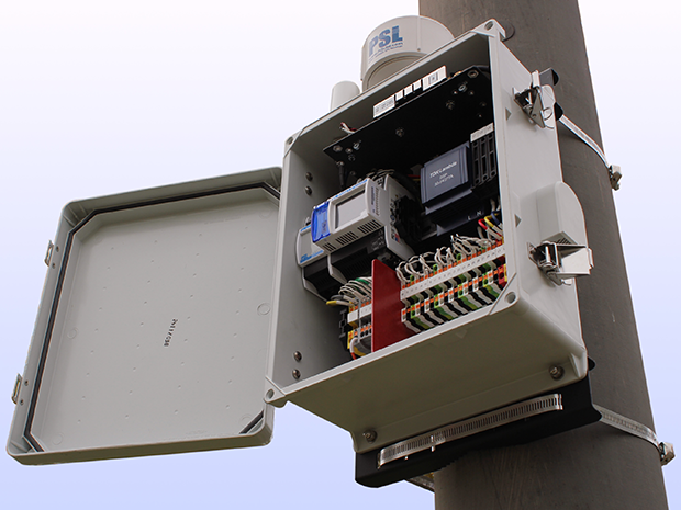 A box on a utility pole is a micro phasor measurement unit (microPMU), which could be a useful too in grid cybersecurity