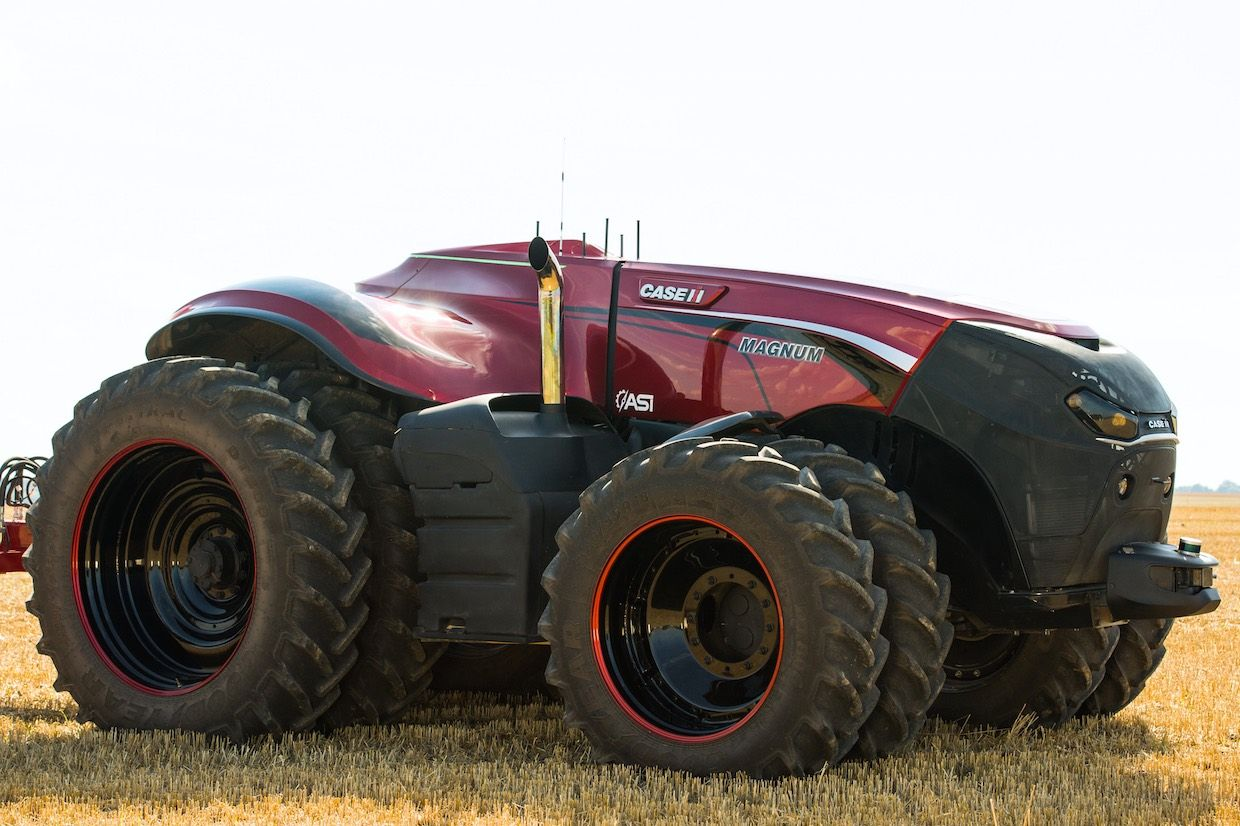 Autonomous robot tractor developed by CNH Industrial