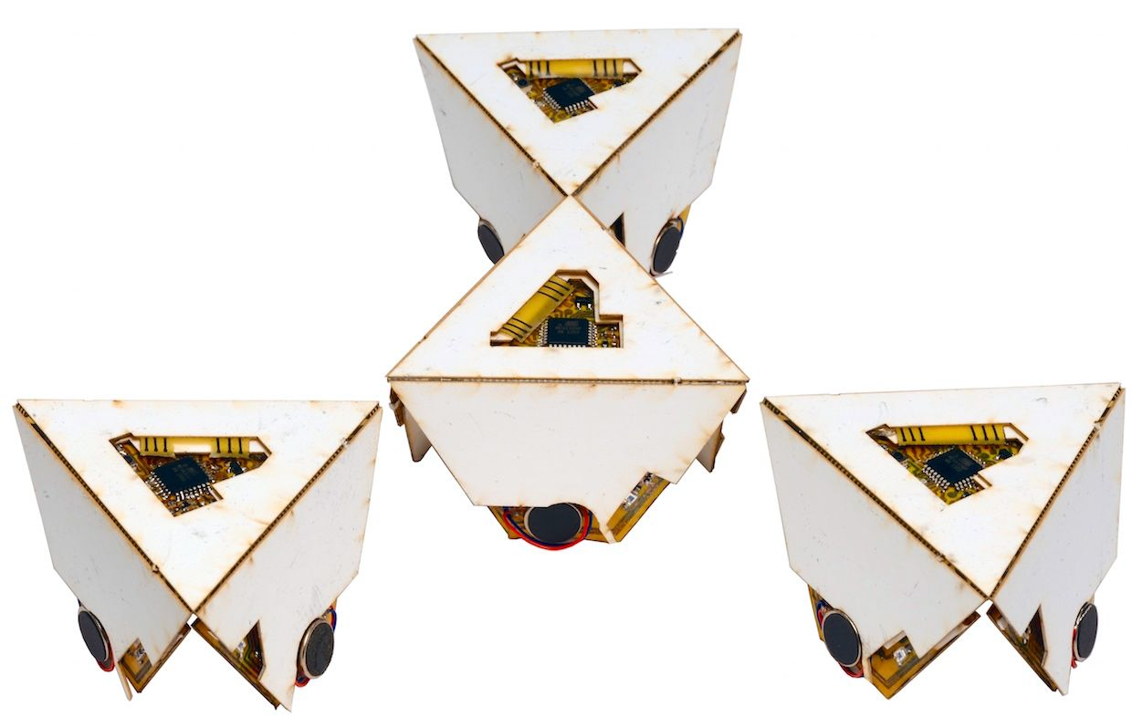 Harvard's self-folding origami robots