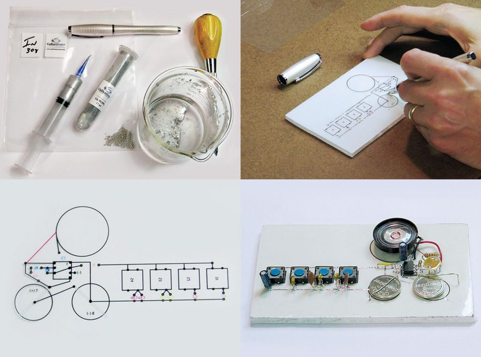 Circuit amb tinta conductora