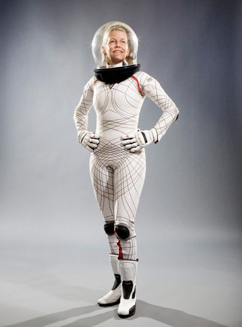 ACTION WEAR: MIT professor Dava Newman [above] proposes an extreme makeover of the old suits. In her BioSuit, she ditches the gas pressurization system for mechanical counterpressure, created by wrapping layer upon layer of flexible material around the body. The result is a skintight design that would make any superhero jealous. (Super powers not included.)