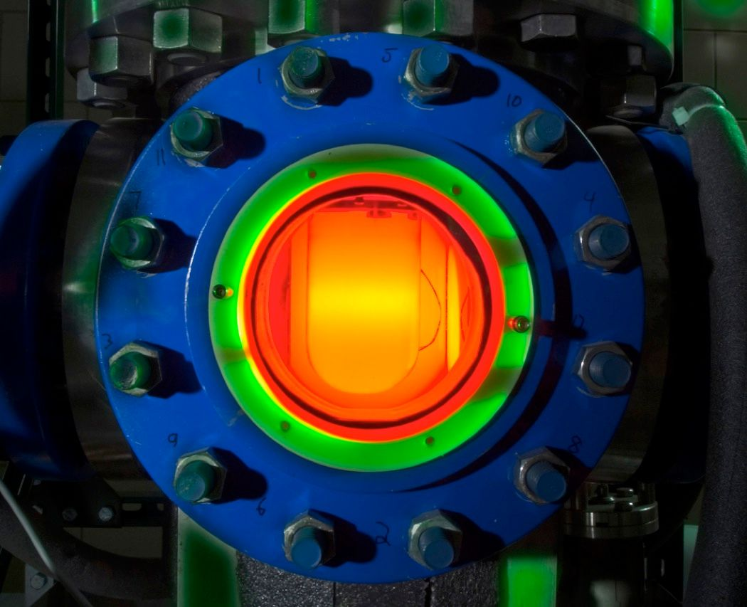 "Scientists know precious little about dark matter—except for the fact that it makes up more than 80 percent of the matter in the universe. This brightly colored device is a ""bubble chamber"" radiation detector that researchers at the SNOLab near Sudbury, Ontario, Canada, hope will reveal dark matter's backstory."