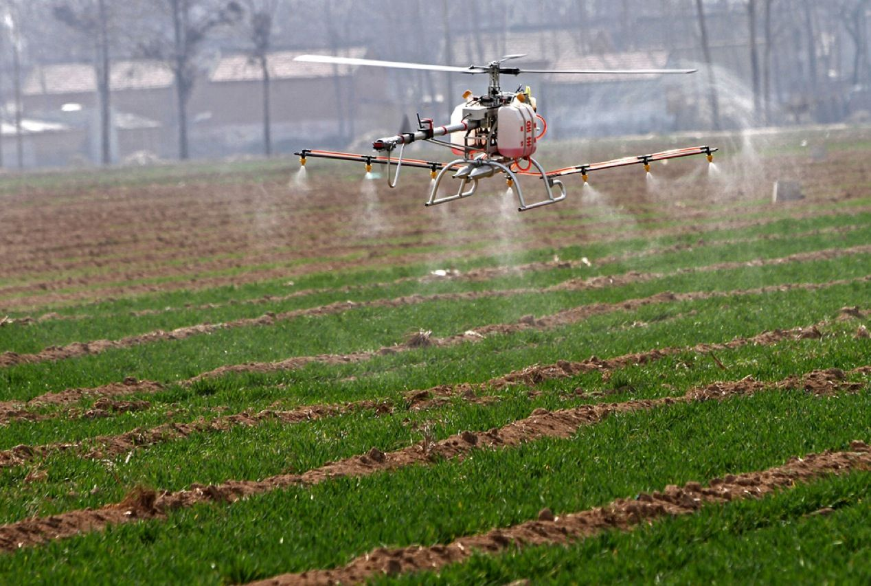 Worried about pesticides on your fruit and vegetables? That's understandable, but imagine the danger faced by the guy seated in the crop duster spraying the bug-killing concoctions, who's also breathing in a fine mist of noxious chemicals. Now farmers are avoiding that danger by sending unmanned aircraft to handle the dirty work. The agricultural drones also give farmers bird's-eye views of fields, letting them spot problems early.