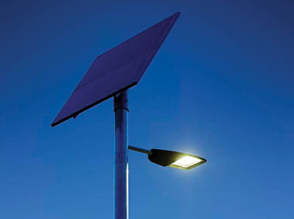 The Subtle Circuitry Behind Led Lighting Ieee Spectrum Wire Inside Bulb Called A Filament Lights This Philips Solar Gen 2 Street Lamp Combines High Brightness Leds With Panel