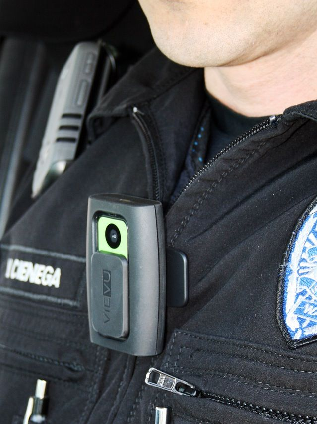The Vievu PVR-LE2 body-mounted video camera now worn by officers with the Bainbridge Island, Wash., police department has 4 gigabytes of internal memory—enough to capture 4 hours of video with 640- by 480-pixel resolution. But turning the US $900 device on during, say, a traffic stop is not mandatory. Also, the system where the downloaded video is stored automatically dumps any footage after 30 days, unless it is flagged.