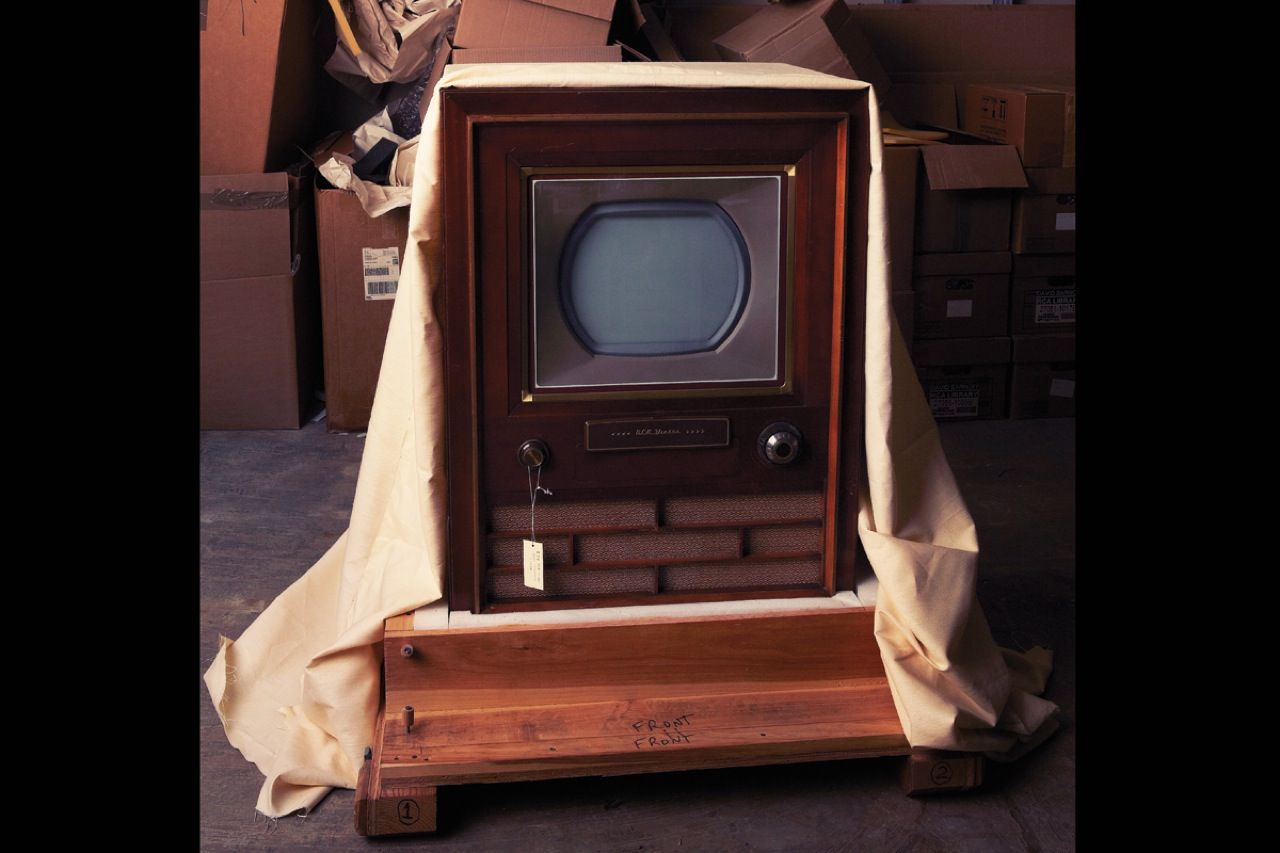 "<strong>First color TV set, CT-100 (1954):</strong>  In the 1950s, RCA vied with the Columbia Broadcasting System to introduce a color TV system. CBS's offering had a superior picture but wasn't compatible with monochrome sets. So RCA refined its system, and in December 1953 the <a href=""http://www.earlytelevision.org/color.html"">Federal Communications Commission endorsed its compatible color standard</a>. RCA's first color TV, the CT-100 sold for US $995—five times the price of a black-and-white set."