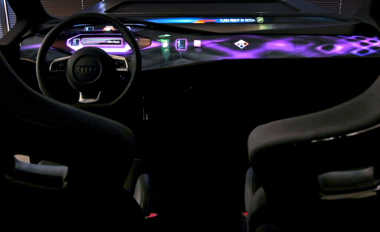 Automotive designers know that drivers have different preferences about the location of instrument gauges and control panels for electronics. Engineers at Volkswagen's Electronics Research Laboratory in Palo Alto, Calif., have responded with a prototype digital dashboard that lets users personalize the position and appearance of readouts.