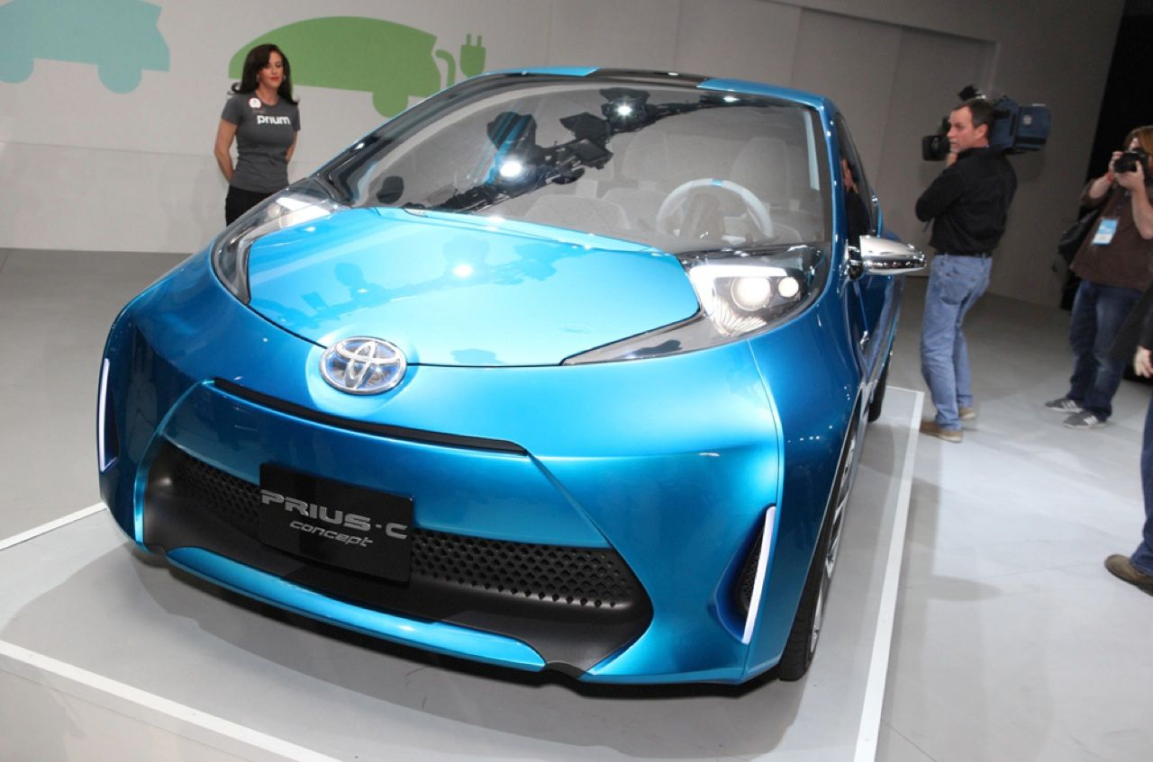 The Prius C Concept car is claimed to bring fuel economy for non–plug-in hybrids to a new level. And the sportier look means that environmentally conscious car buyers will no longer have to weigh their desire to save the planet against their willingness to hit the road in a rolling egg carton.
