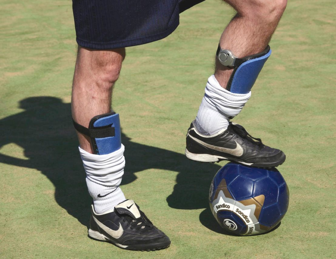 "Players, referees, and fans of soccer say ""the beautiful game"" is being marred by players who pretend to be struck by opponents in order to draw foul calls. To end the unsportsmanlike practice, known as taking a dive, engineers have developed antidiving shin pads. Each contains a proximity sensor and an impact sensor; when both are set off, the system automatically calls a foul. The pads are even smart enough to tell a real foul from a player kicking himself in the shin."