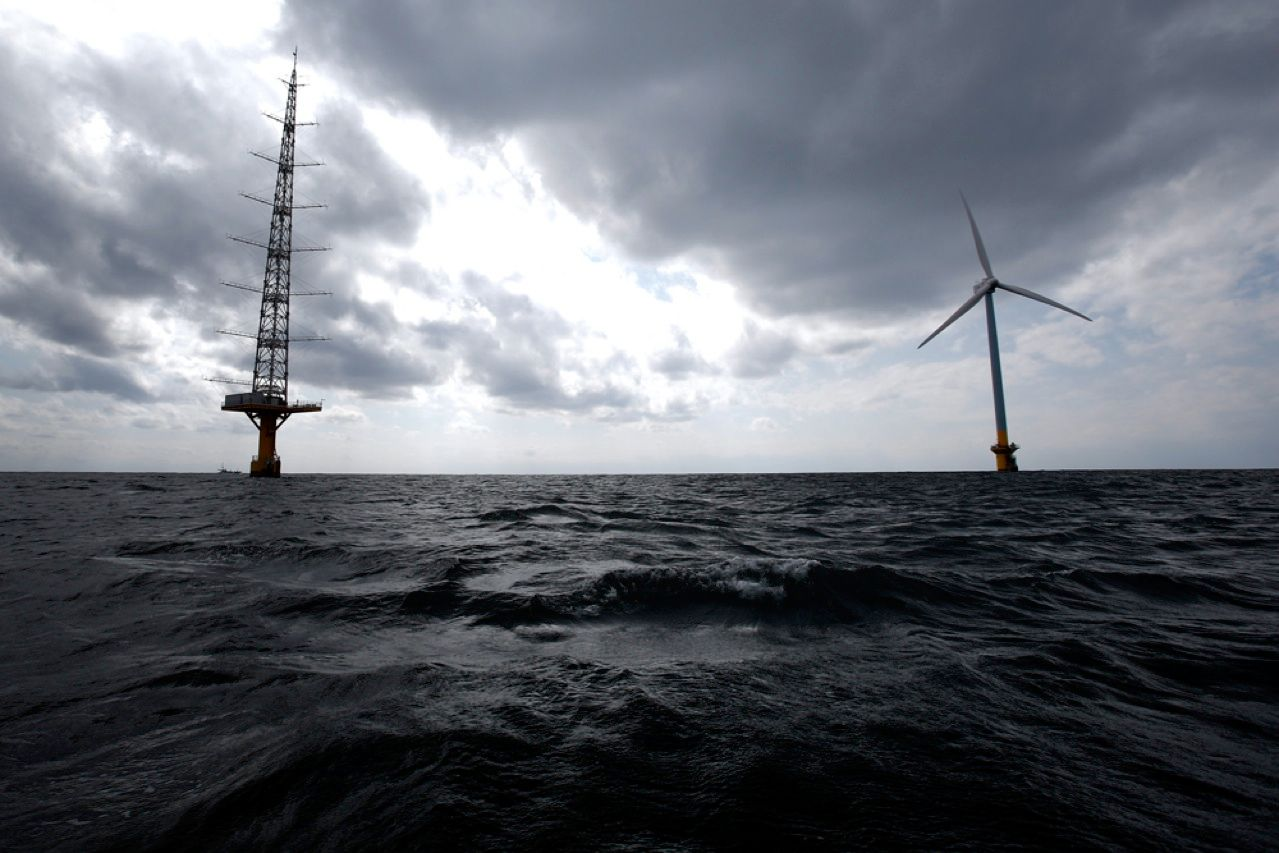 This wind turbine, installed off the coast of Choshi, Japan, has recently begun delivering 2.4 megawatts to the power-starved region. A 2-MW turbine, off Kitakyushu, will start generating power by July. The addition of wind power comes as Japan attempts to compensate for the nuclear power that dominated the nation's energy mix before the March 2011 disaster at the Fukushima Dai-ichi plant.
