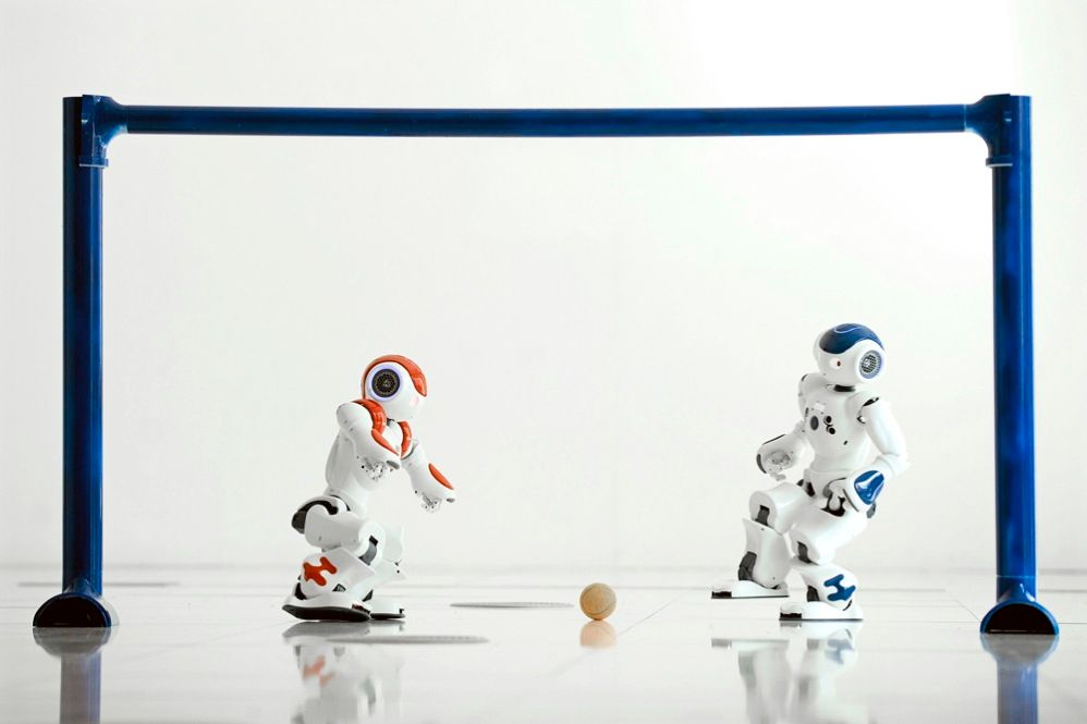 Researchers at the Edinburgh University School of Informatics have created Android FC, a team of 60-centimeter-tall humanoid robotic soccer players fitted with sensors and processors that allow them to react to the ball and to other players autonomously. The androids will battle other teams next year at a global RoboCup competition in Istanbul.