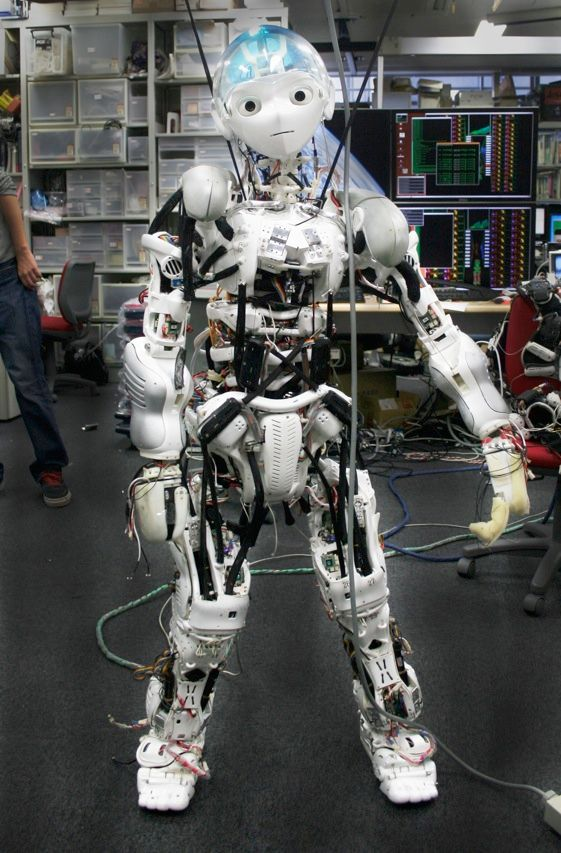 Kojiro is a mechanical child built at the University of Tokyo. Its body mimics our musculoskeletal system. And unlike real children, it can be controlled using a PlayStation joystick.